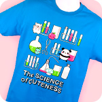 Genki Gear Science of Cuteness Tee Blue