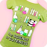 Genki Gear Science of Cuteness Tee Green
