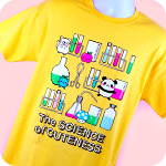 Genki Gear Science of Cuteness Tee Yellow