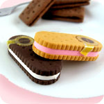 Kawaii Bourbon Cream Biscuit Eraser