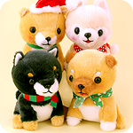 Christmas Mameshiba Pup 15cm Plush
