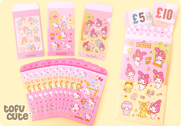 Sanrio Lucky Money Envelopes with Stickers