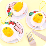 Gudetama Egg Puffy Plush Plate Charm