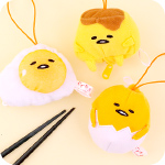 Gudetama Reversible Egg Plush Charm
