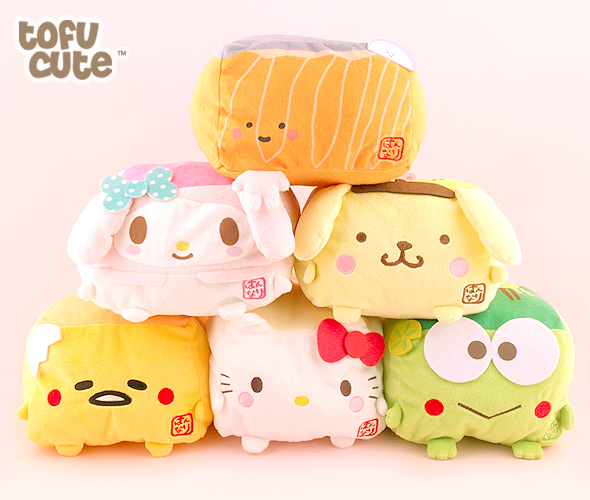 Cute Tofu Pillow : Buy Hannari Tofu x Sanrio Character Cushion Plush at Tofu Cute