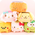 Hannari Tofu x Sanrio Cube Cushion Plush