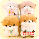Kotsume Otter Home Party Plush Keychain