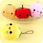 Kawaii Happy Fruits Plush Phone Charm