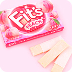 Lotte Fit&#39s Chewing Gum - Peach