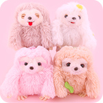 Amuse Sloth Chillin&#39 Day Plush Keychain