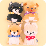 Amuse Mameshiba Pup Plush Purse