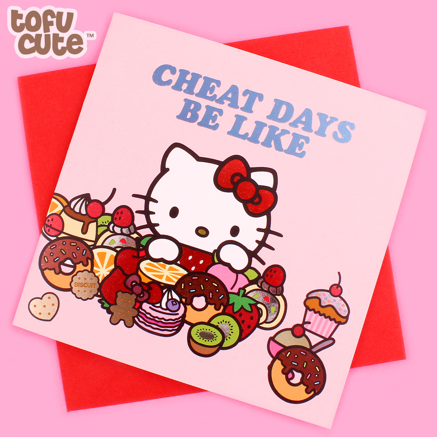Buy Jolly Awesome X Sanrio Hello Kitty Foil Greeting Card Cheat