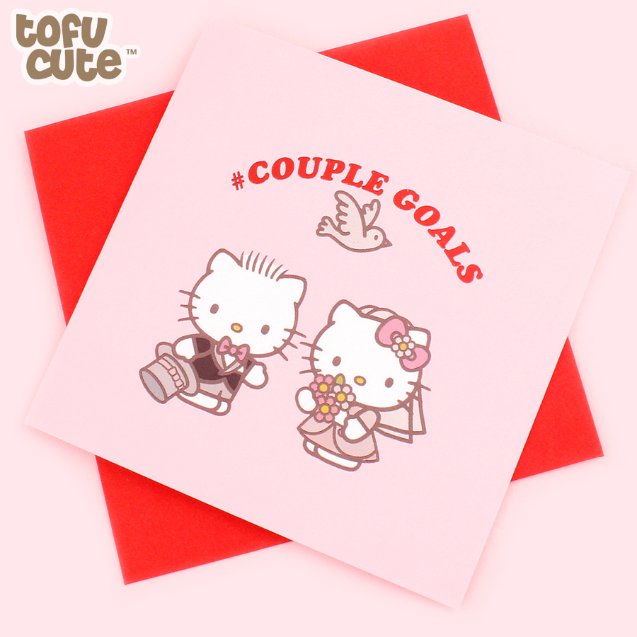 Buy Jolly Awesome X Sanrio Hello Kitty Foil Greeting Card Couple