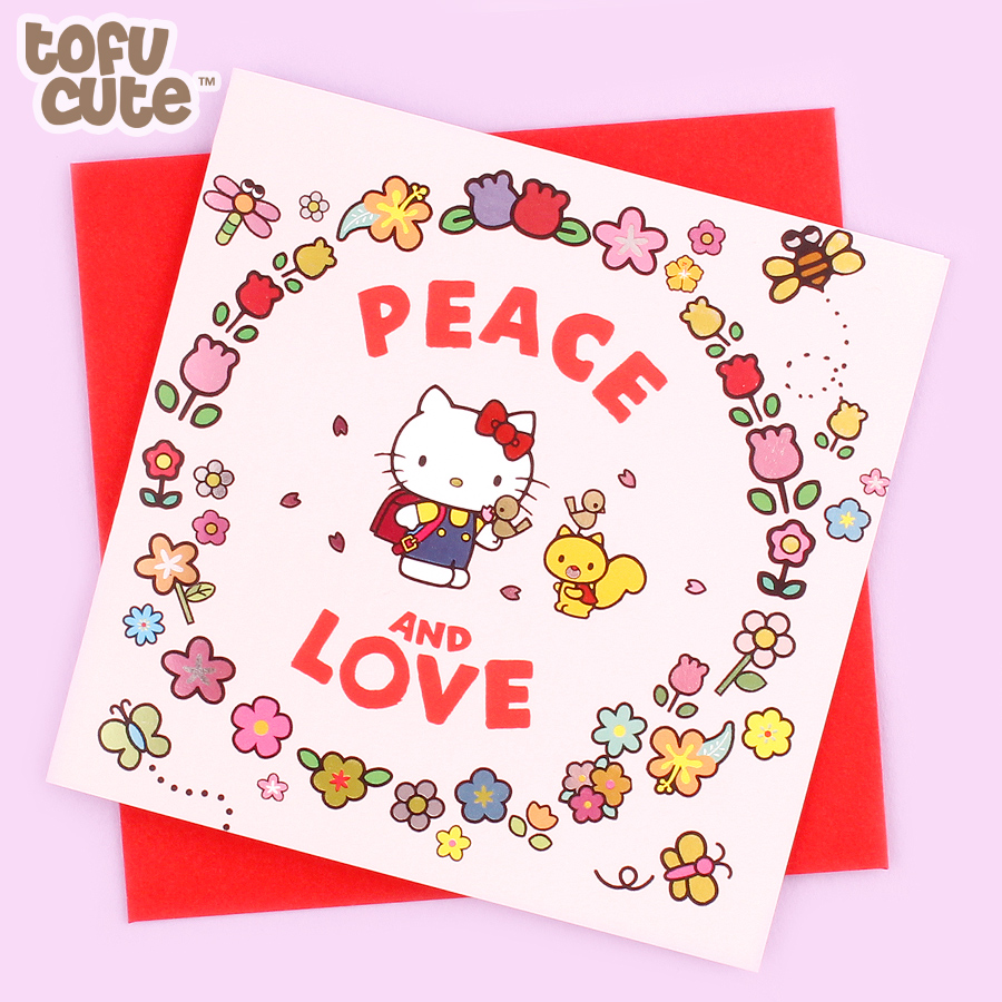 Buy Jolly Awesome X Sanrio Hello Kitty Foil Greeting Card Peace