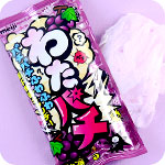 Meiji Watapachi Grape Popping Candy Floss