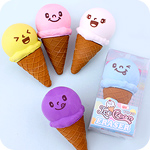 Kawaii Faces Ice Cream Cone Eraser