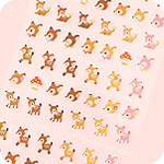 Kawaii Mini Deer Fawn Seal Stickers