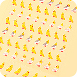 Kawaii Mini Birds Seal Stickers