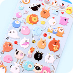 Kawaii Sponge Stickers - Round Fat Animals