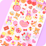 Kawaii Sponge Stickers - Cutie Sweets Animals
