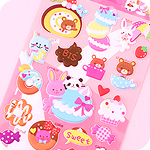 Kawaii Large Stickers - Animals & Macarons