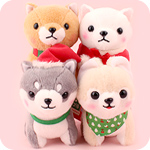 Christmas Mameshiba Pup v2 15cm Plush