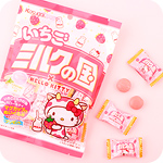 Kasugai Milk Strawberry Hello Kitty Candy