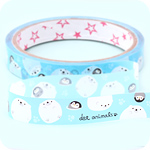 Kawaii Deco Tape - Penguin & Polar Bear