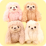 Amuse Namakemono Sloth Friends Keychain