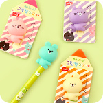 Kawaii Animal Grip Eraser Cap