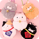 Amuse Hige Manju Cat Clasp Purse & Strap