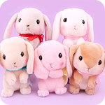 Poteusa Loppy Begging Bunny Small Plush