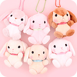 Poteusa Loppy Bunny Cute Small Keychain