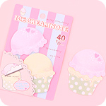 Ice Cream Sticky Notes - Milky Strawberry