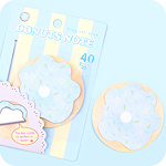 Doughnut Sticky Notes - Tropical Blue