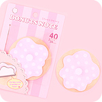 Doughnut Sticky Notes - Strawberry Pink