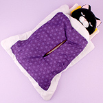 Black, Purple Bed