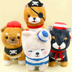 Mameshiba Pup Pirate Play JB Medium Plush