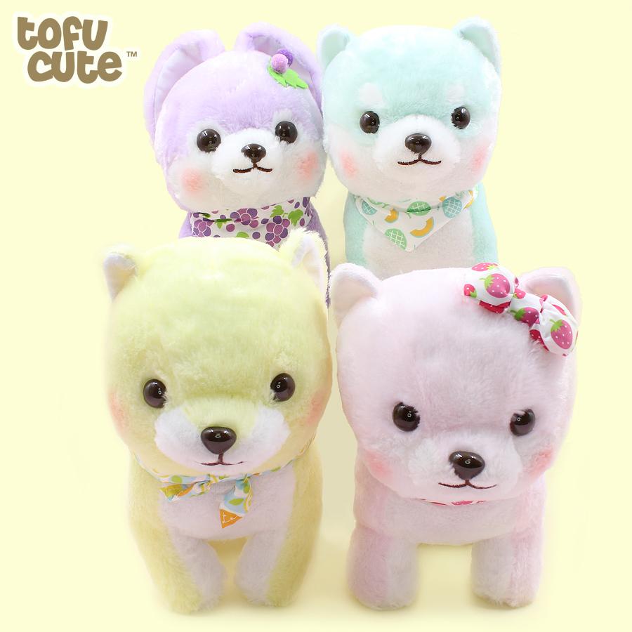 Pastel Mameshiba Brothers Plush Cute Kawaii Stuffed Shiba Inu Soft Toy AMUSE UK