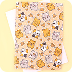 Tofu Cute A5 Notebook - Woops Poop Cat