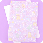 Tofu Cute A5 Notebook - Pastel Alpaca Skies