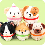 Amuse Round Dog Collection Keychain