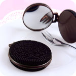 Kawaii Oreo Cookie Mirror Keychain