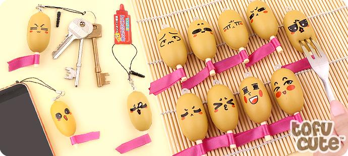 Emotion Squishy Tag : Buy Kawaii Squishy Emotion Corn Dog Charm with Phone Jack at Tofu Cute