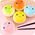 Squishy Colourful Onsen Manju Bun Charm