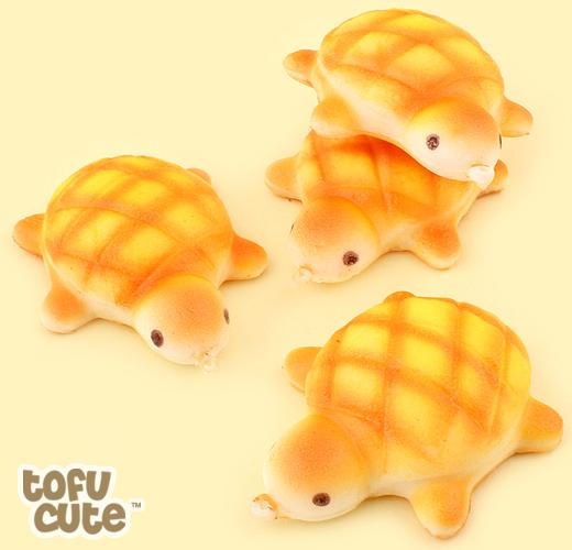 Buy Kawaii Squishy Turtle Melon Pan Bread Charm at Tofu Cute