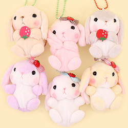 Poteusa Loppy Strawberry Small Keychain