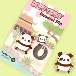 Tofu Cute Enamel Pin Series 1 - Panda Chan
