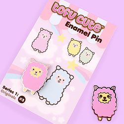 Tofu Cute Enamel Pin Series 1 - Alpaca