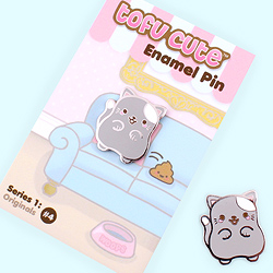 Tofu Cute Enamel Pin Series 1 - Woops Cat